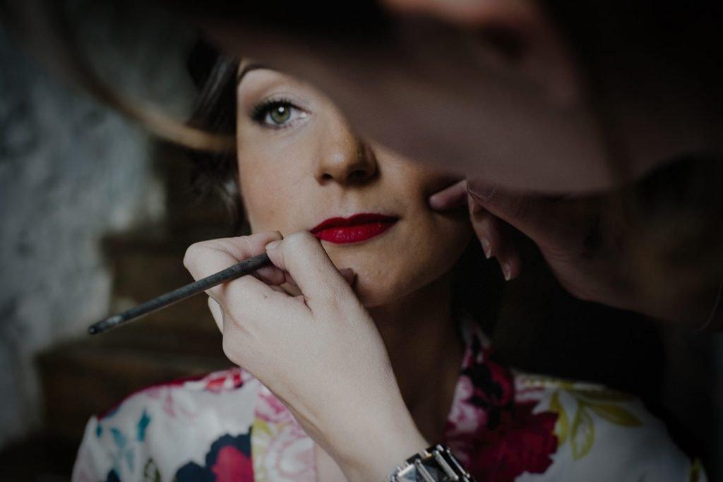 Reportaje de maquillaje en la boda