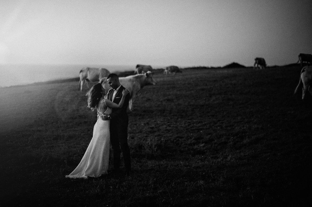 Foto de boda en el faro de Ajo en Cantabria