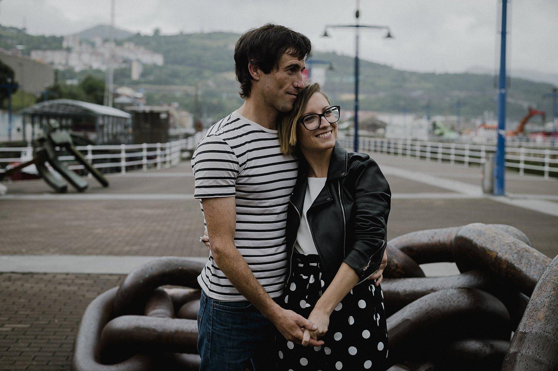 fotos de pareja paseo marítimo de Bilbao