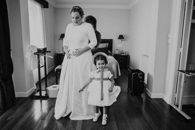 Foto del vestido de la novia