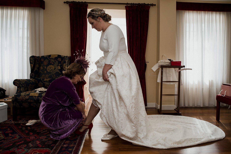 Foto de detalles de la novia