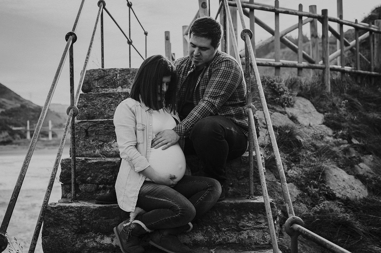 Reportaje de embarazo de 8 meses en el cargadero de Kobaron en Muskiz 8