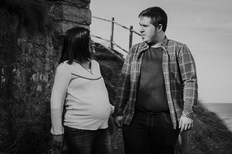 Reportaje de embarazo de 8 meses en el cargadero de Kobaron en Muskiz 9