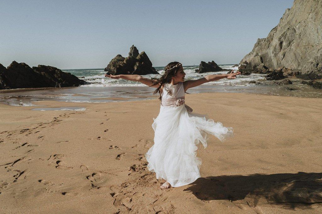 22 de Junio reportaje de comunión con Iratxe, en la playa de Laga 4