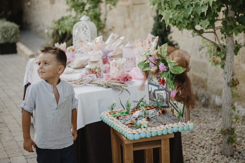 Mesa de dulces en la boda