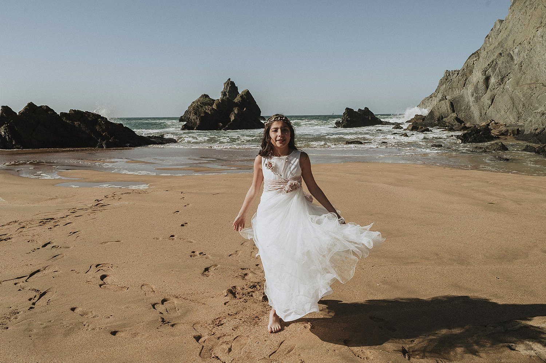 22 de Junio reportaje de comunión con Iratxe, en la playa de Laga 3
