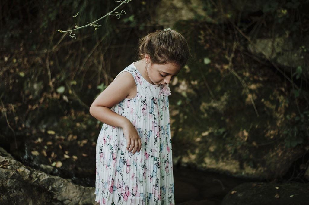 tarde de verano reportaje de niños en Amorebieta
