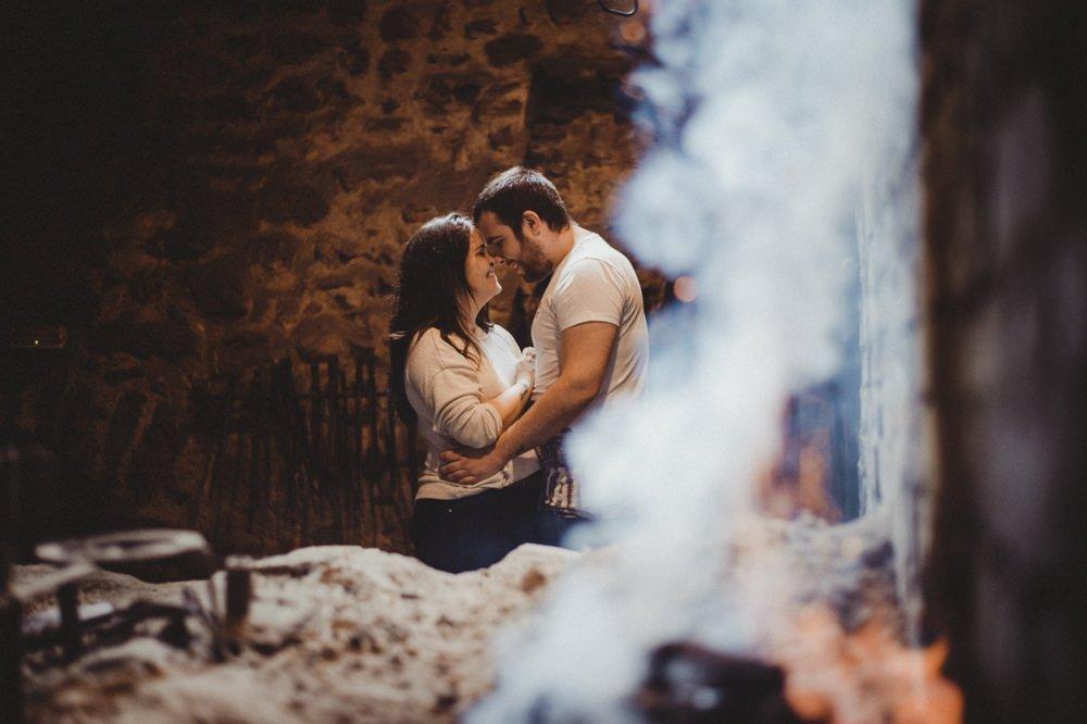 reportaje de pareja en la ferrería del pobal