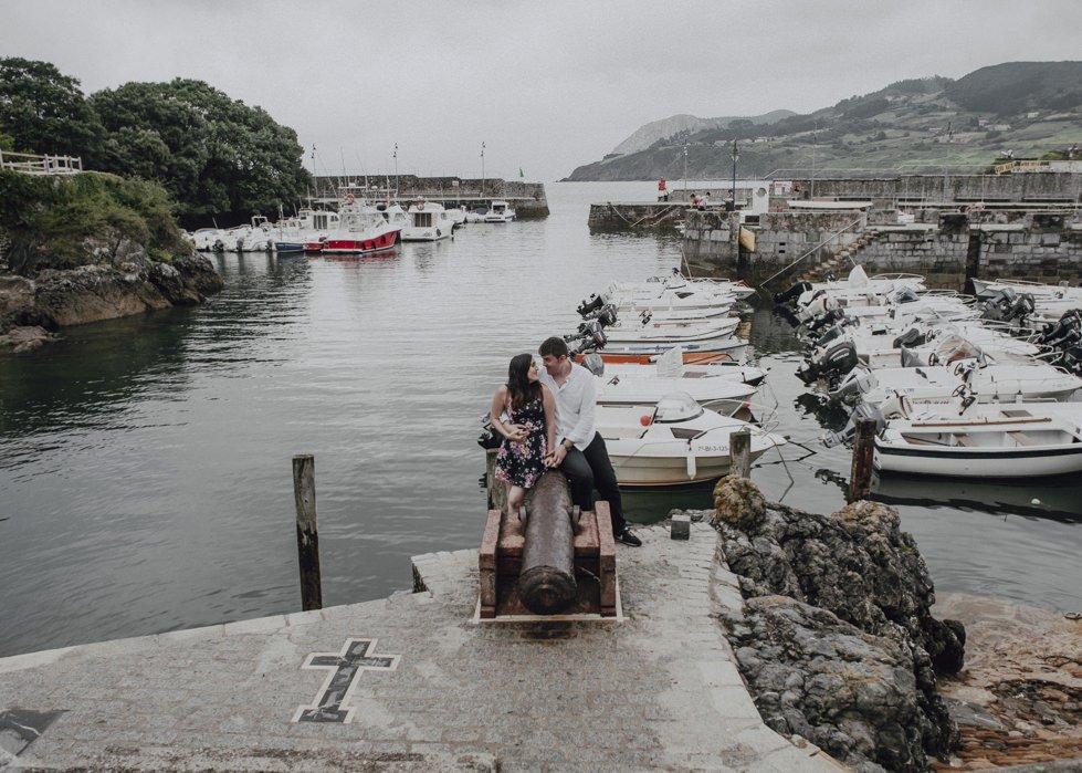 Reportaje fotografico de pareja en Mundaka